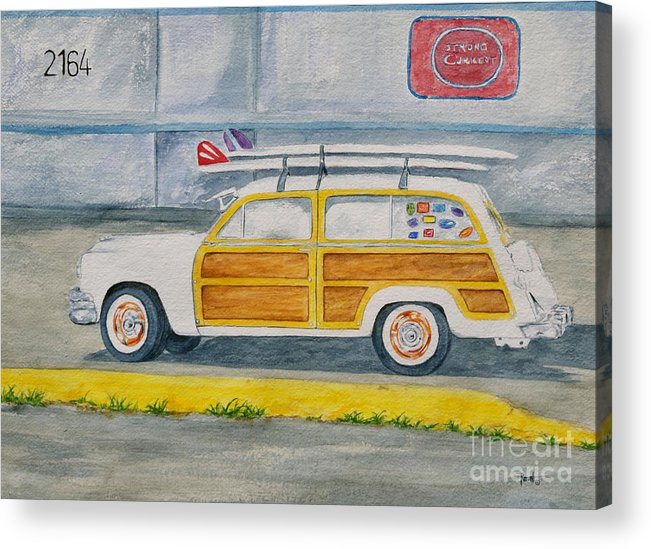 Woody Paintings Acrylic Print featuring the painting Woody by Regan J Smith