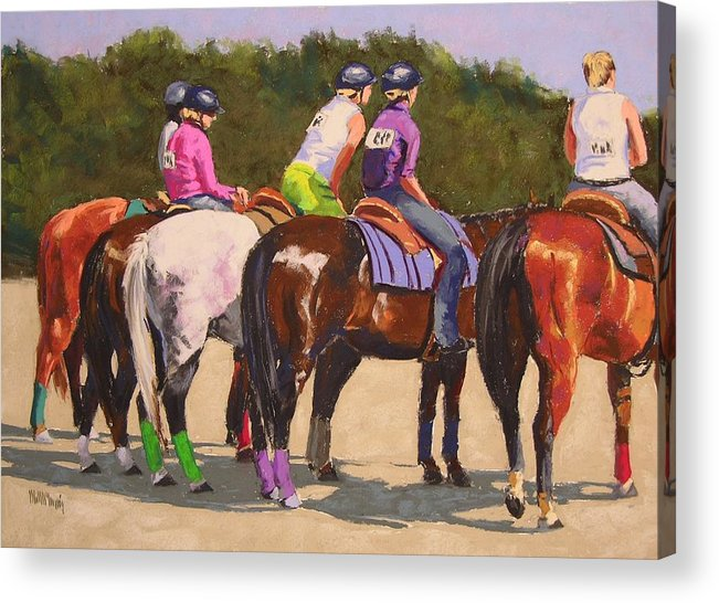 Horses Acrylic Print featuring the pastel Fair On Deck by Mary McInnis