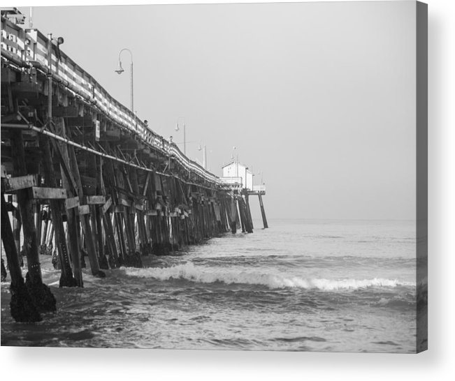 San Clemente Acrylic Print featuring the photograph San Clemente Pier by Ralf Kaiser