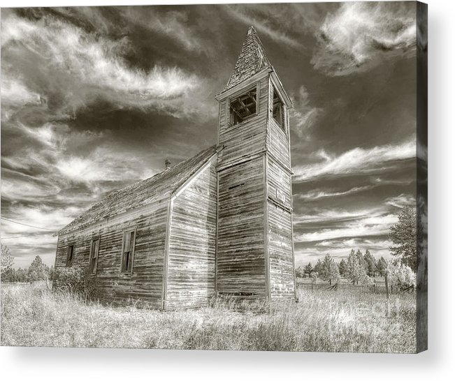 Kevin Felts Acrylic Print featuring the photograph Abandoned Church Flora Oregon by Kevin Felts