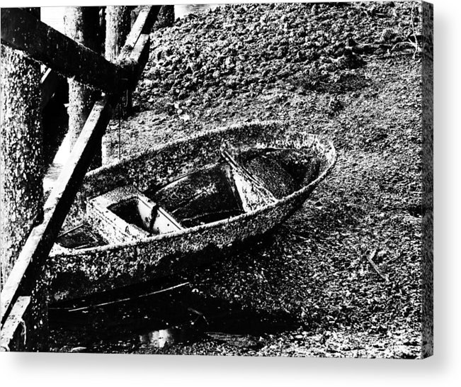 Barnacles Acrylic Print featuring the photograph Barnacle Boat by Ruth H Curtis