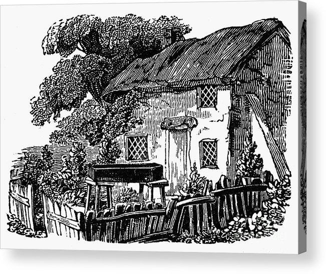 19th Century Acrylic Print featuring the photograph Bewick: Rural House by Granger