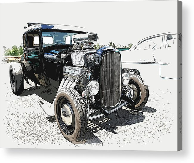 Hot Rod Acrylic Print featuring the photograph Blown Coupe by Steve McKinzie
