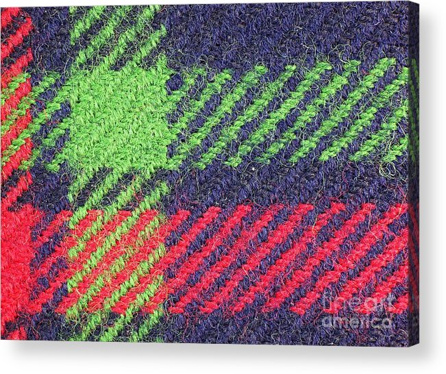 Texture Acrylic Print featuring the photograph Closeup Of Multi-colored Fabric by Yali Shi