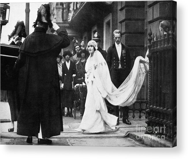 1923 Acrylic Print featuring the photograph Elizabeth Bowes-lyon by Granger