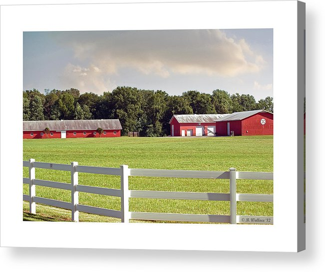 2d Acrylic Print featuring the photograph Farm Pasture by Brian Wallace