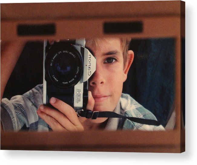 Self Acrylic Print featuring the photograph First Self-portrait by David Paul Murray