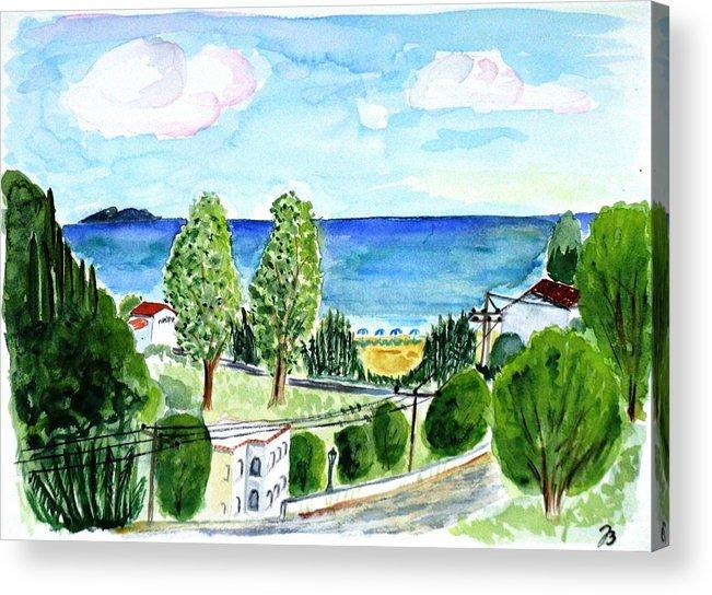 Ocean Acrylic Print featuring the painting Gardeno Beach by Jutta Bluehberger