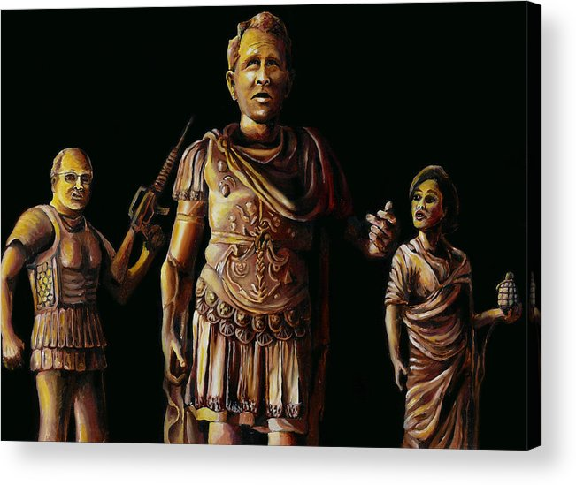 Acrylic Print featuring the painting History Repeating by Jim Figora