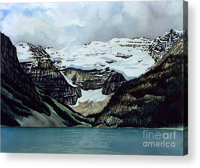 Lake Louise Acrylic Print featuring the painting Lake Louise by Scott Nelson