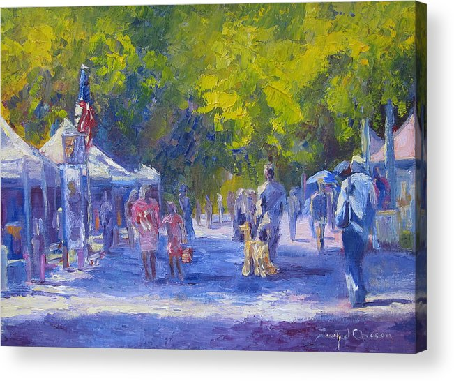 Shopping Acrylic Print featuring the painting Looking For Ring 5 by Terry Chacon