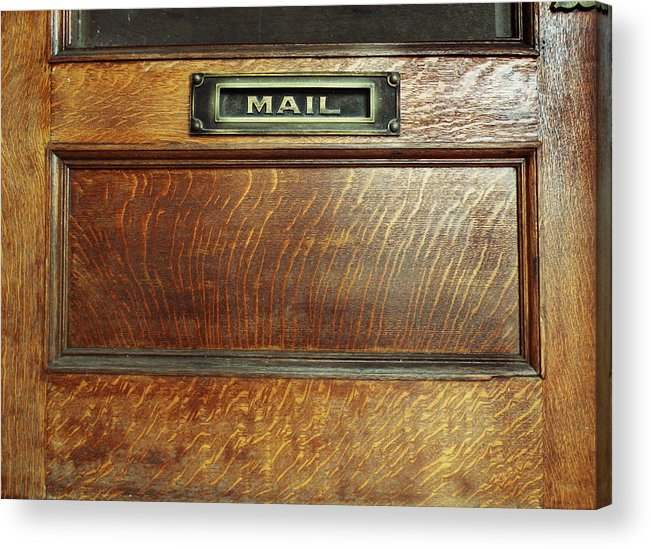 Mail Acrylic Print featuring the photograph Mail by Steven Michael