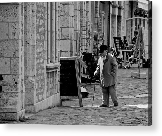 Chartres Acrylic Print featuring the photograph Morning Stroll by Eric Tressler