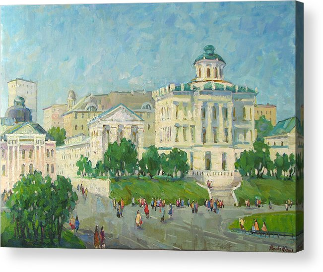 City Acrylic Print featuring the painting One Day In Moscow by Juliya Zhukova