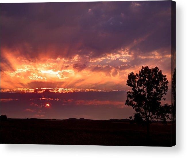 Sunset Acrylic Print featuring the photograph Red Fire Sunset by HW Kateley