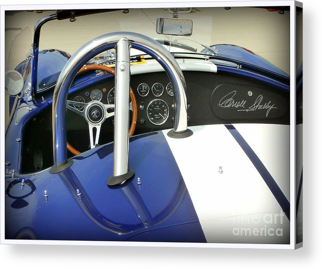Carroll Shelby Acrylic Print featuring the photograph Shelby Signed Cobra by Karyn Robinson