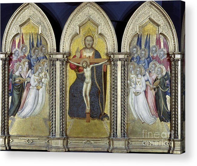 Adoring Angel Acrylic Print featuring the photograph The Trinity With Angels by Granger