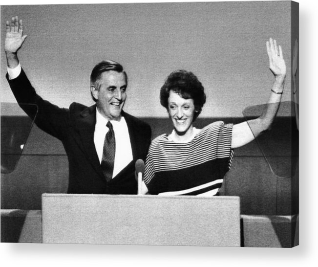 1980s Acrylic Print featuring the photograph Us Elections. Democratic Presidential by Everett