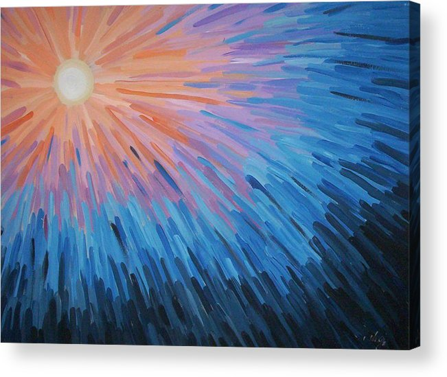 Angela Mustin Acrylic Print featuring the painting Burst by Angela Mustin