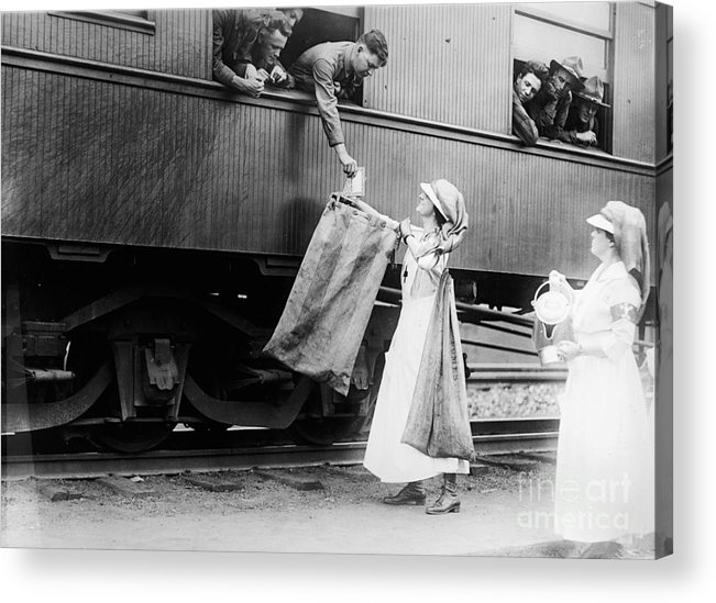 1918 Acrylic Print featuring the photograph World War I: Red Cross by Granger
