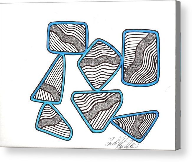 Abstract Acrylic Print featuring the drawing 29 by Freda Garland