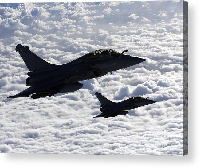 Evreux Acrylic Print featuring the photograph Dassault Rafale B Of The French Air by Gert Kromhout
