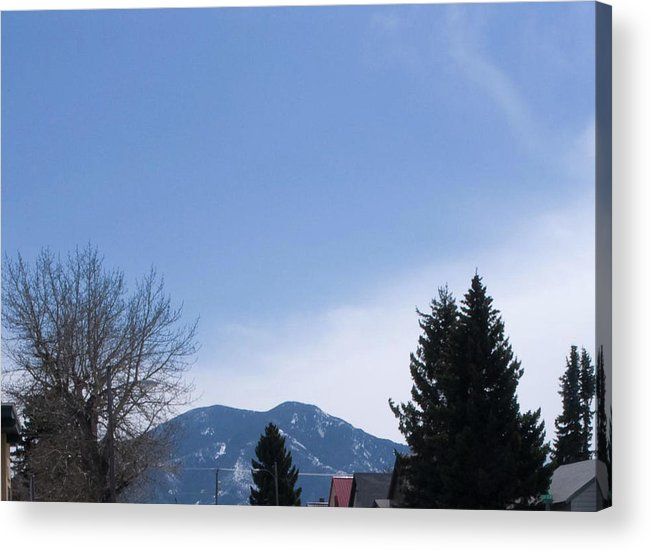 Montana Acrylic Print featuring the photograph A View Of The Beartooth Mountains by Janis Beauchamp