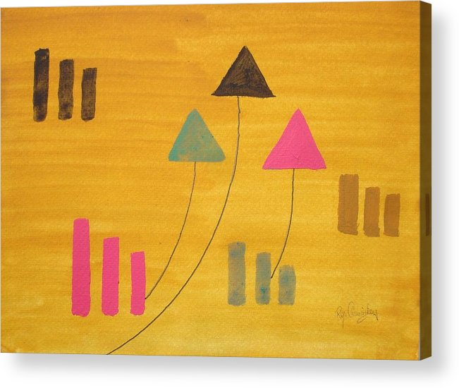 Abstract Acrylic Print featuring the painting Abstract by Roger Cummiskey