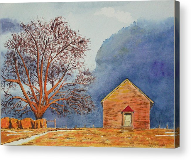 Landscape Acrylic Print featuring the painting Afternoon Storm by Ally Benbrook