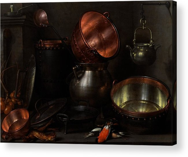 Still Acrylic Print featuring the painting Allegory Of The Four Elements by Cornelis Jacobsz Delff