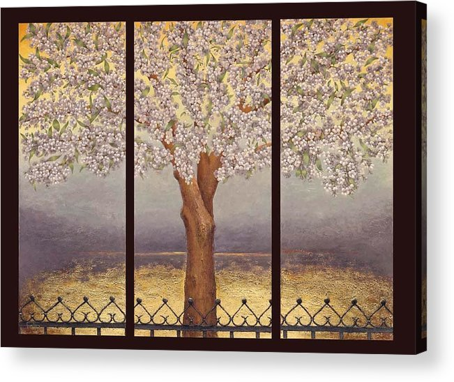 Almond Acrylic Print featuring the painting Almond Tree by Barbara Gerodimou