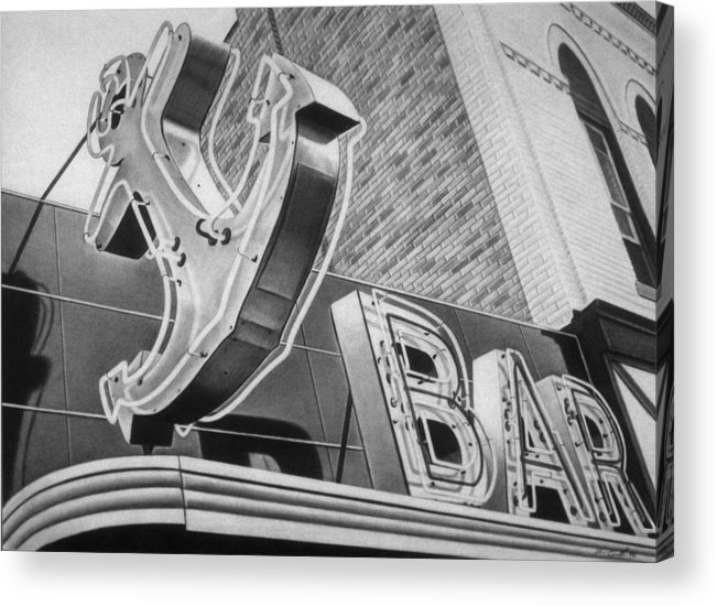 Sign Acrylic Print featuring the drawing Anchor Bar by Van Cordle