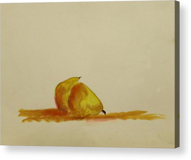 Fruit Acrylic Print featuring the painting Anjou Pears by Michela Akers