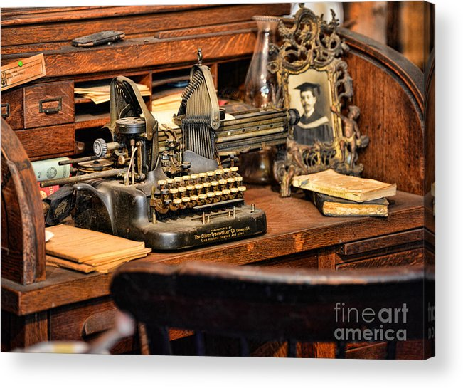Paul Ward Acrylic Print featuring the photograph Antique Typewriter by Paul Ward