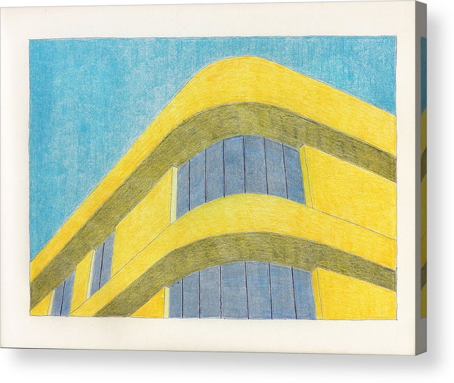 Architecture Acrylic Print featuring the drawing Art Deco by Eric Forster