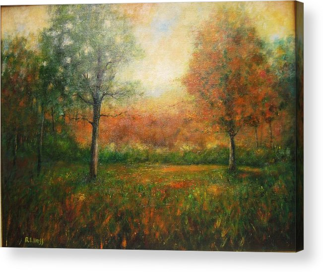 Acrylic Print featuring the painting Autumn Field by Robert Hess