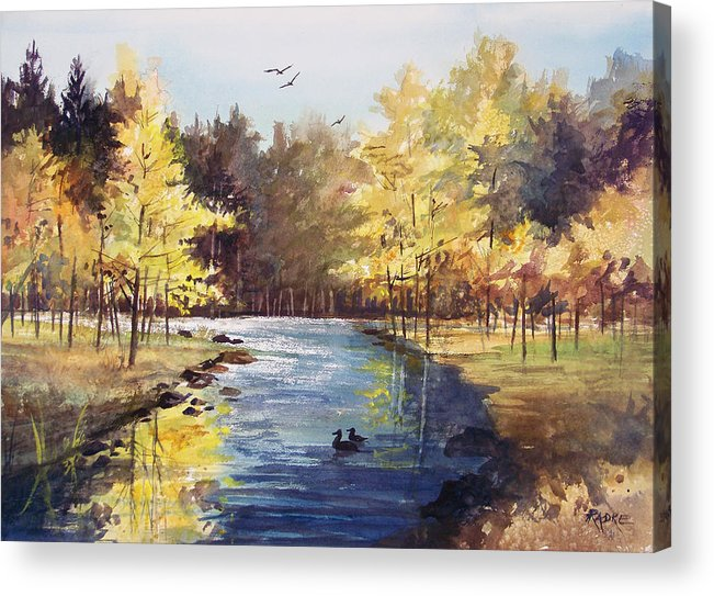 Watercolor Acrylic Print featuring the painting Autumn Impressions by Ryan Radke