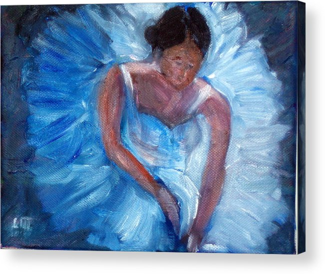 Ballet Acrylic Print featuring the painting Ballerina 1 by Lia Marsman
