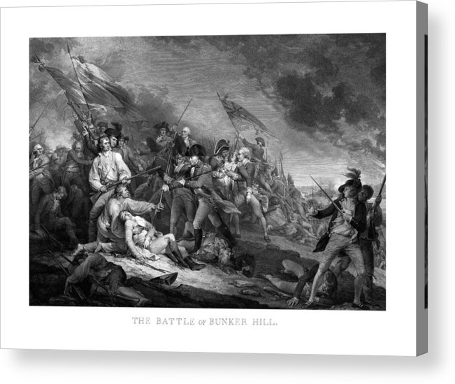 Revolutionary War Acrylic Print featuring the mixed media Battle Of Bunker Hill by War Is Hell Store