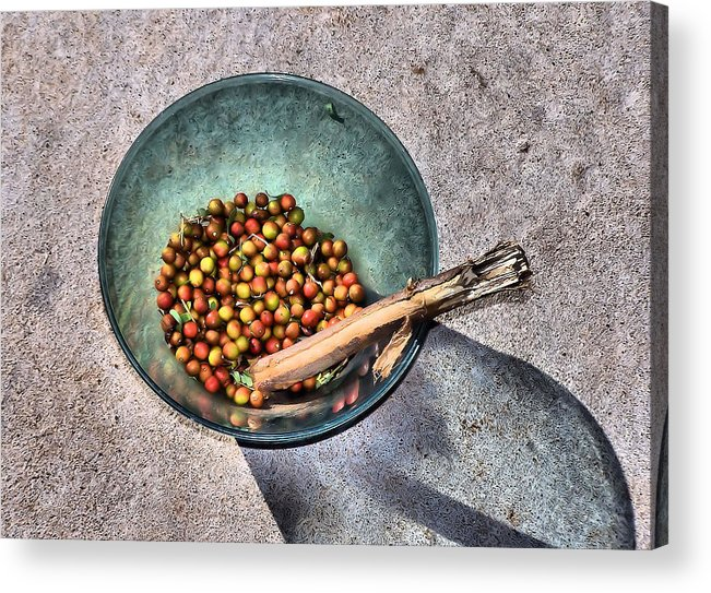 Bowl Acrylic Print featuring the photograph Berry Bowl by Karen Scovill