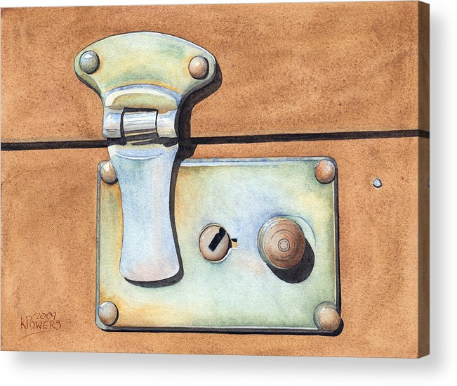 Case Acrylic Print featuring the painting Case Latch by Ken Powers