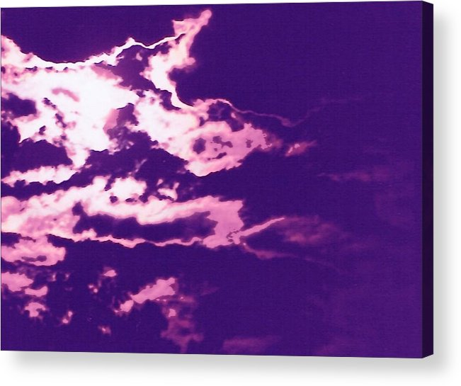 Moon Acrylic Print featuring the photograph Cloudscape II by Curtis Schauer