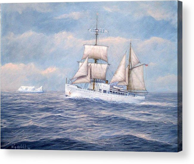Coast Guard Acrylic Print featuring the painting Coast Guard Cutter Northland by William H RaVell III