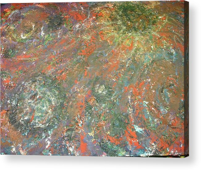 Acrylic Print featuring the mixed media Colliding Galexies 2 by Jennifer Wall