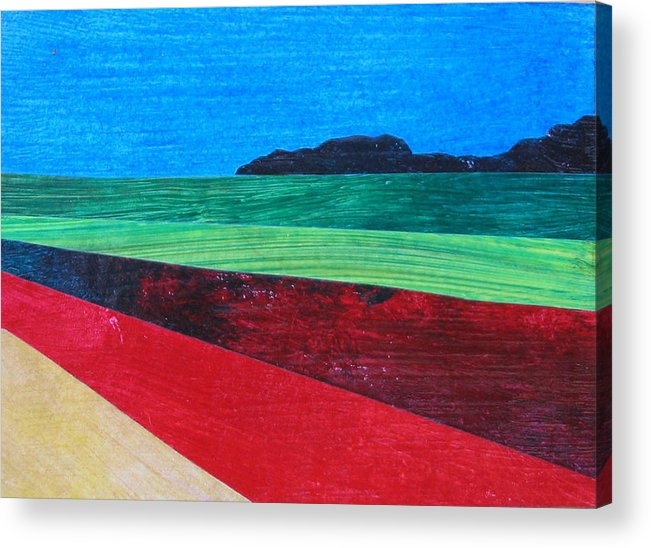 Aceo Acrylic Print featuring the painting Colours Of Spain by Dille Ferrer