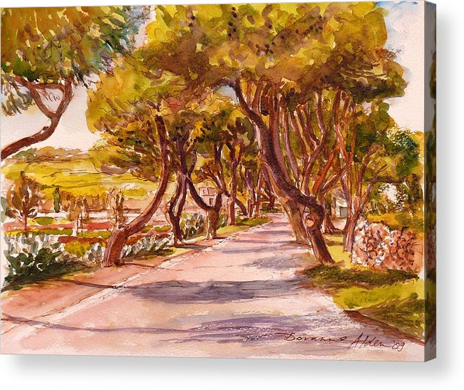 Landscape Acrylic Print featuring the painting Country Lane by Doranne Alden