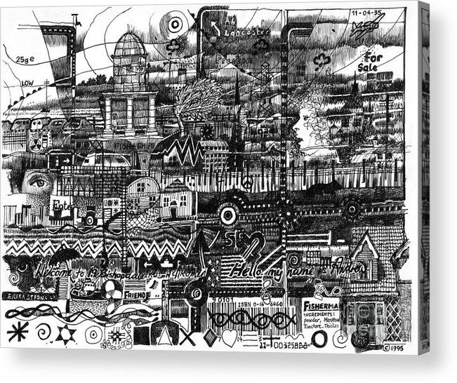Fleetwood Acrylic Print featuring the drawing Day Trip To Fleetwood by Andy Mercer