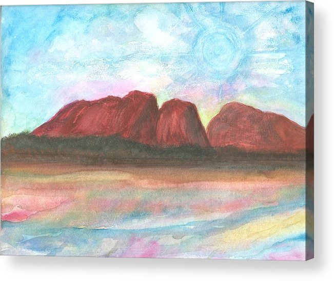 Daydreamscape Acrylic Print featuring the painting Daytime In Ozzz by Laura Johnson