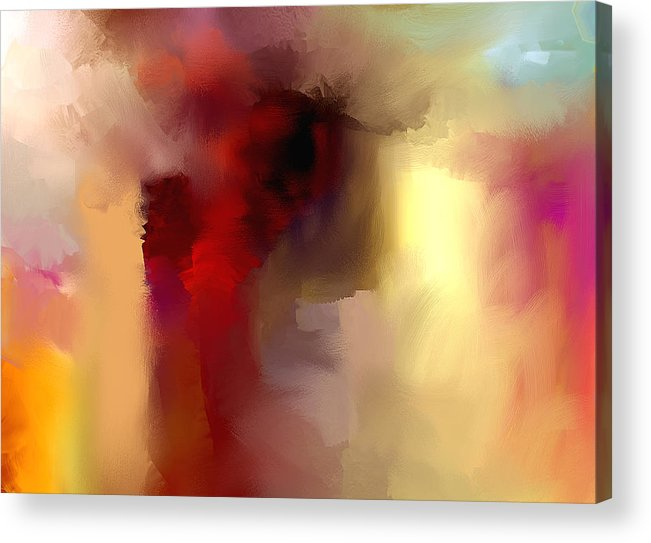 Acrylic Print featuring the painting Feeling In Painting by Davina Nicholas