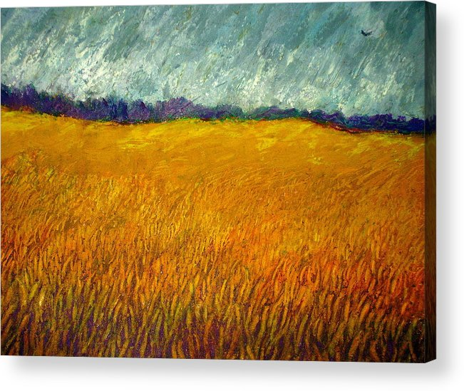 Field Acrylic Print featuring the painting Field At Noon by Kent Whitaker